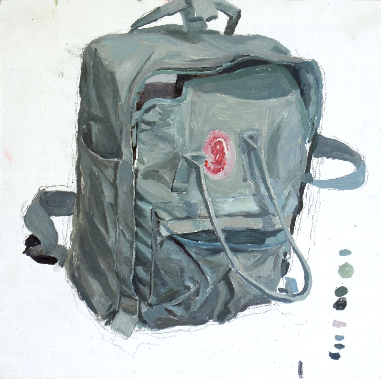 Backpack / 2015 / oil on mdf / 30cm x 30cm