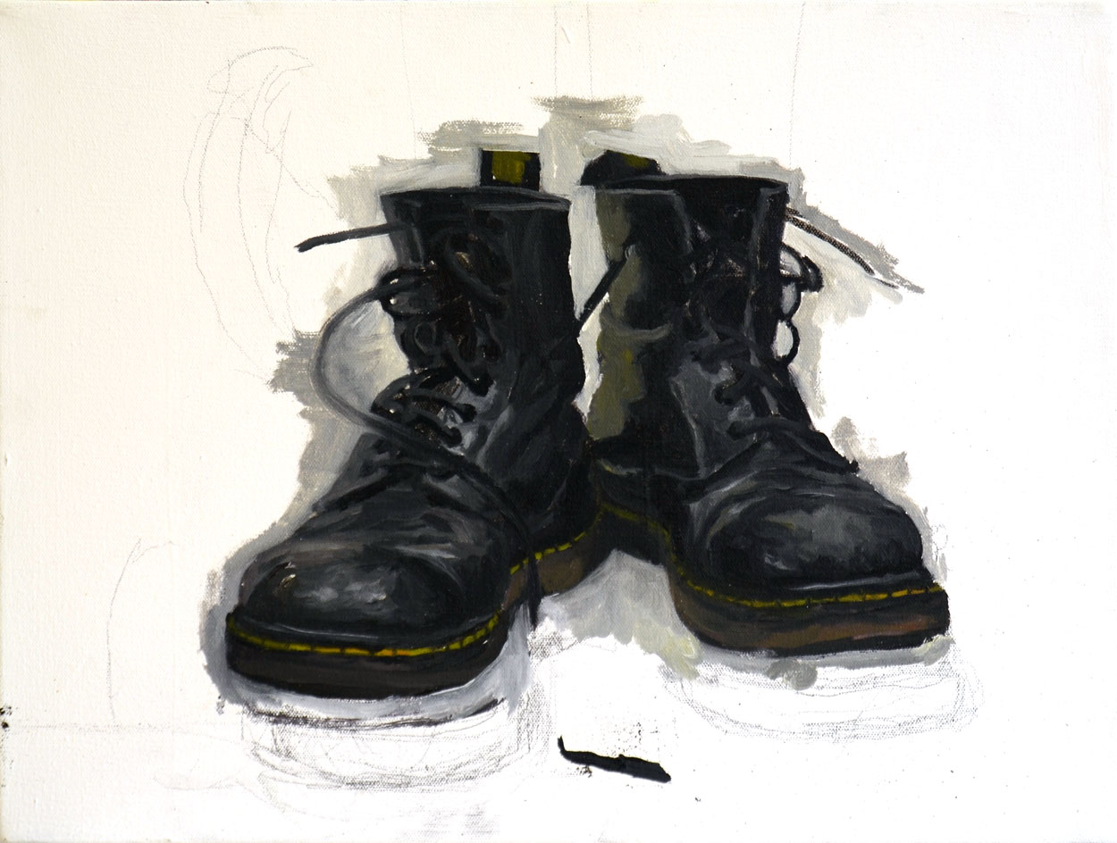 Boots / 2015 / oil on canvas / 35,5cm x 47,5cm