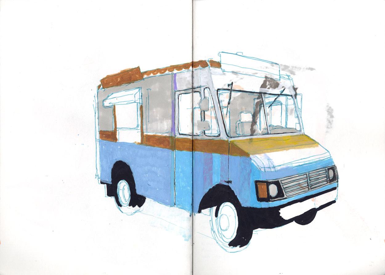 Ice cream truck / 2015 / markers on paper / 29,7cm x 42cm