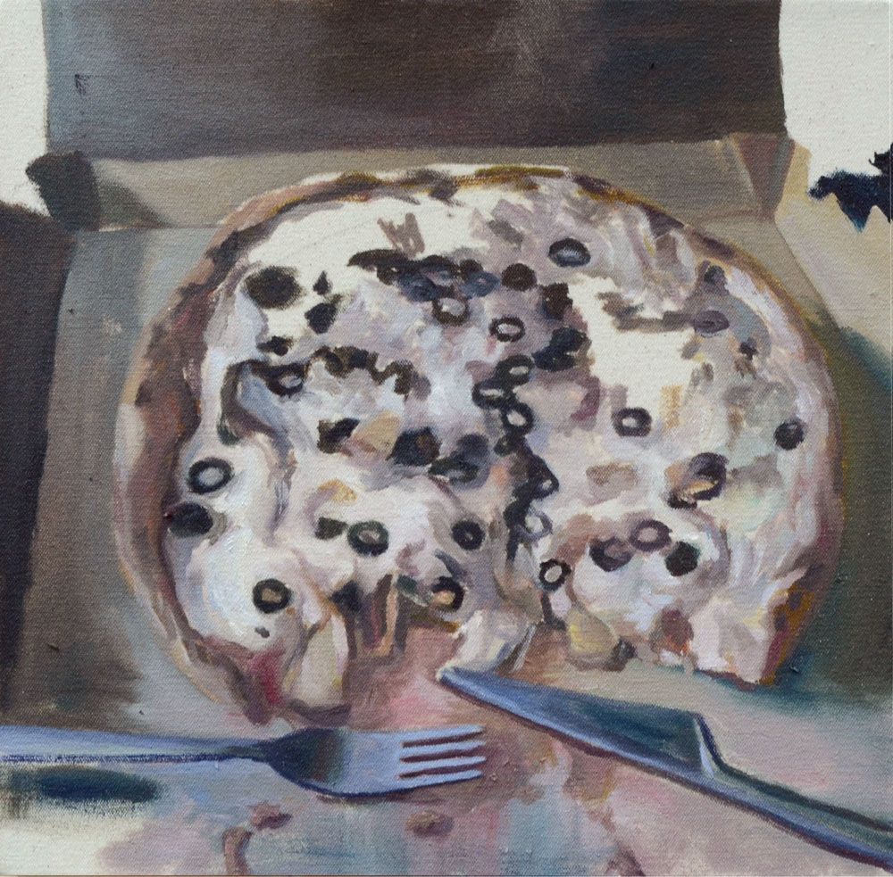 Pizzabox / 2015 / oil on canvas / 41,1cm x 40,9cm
