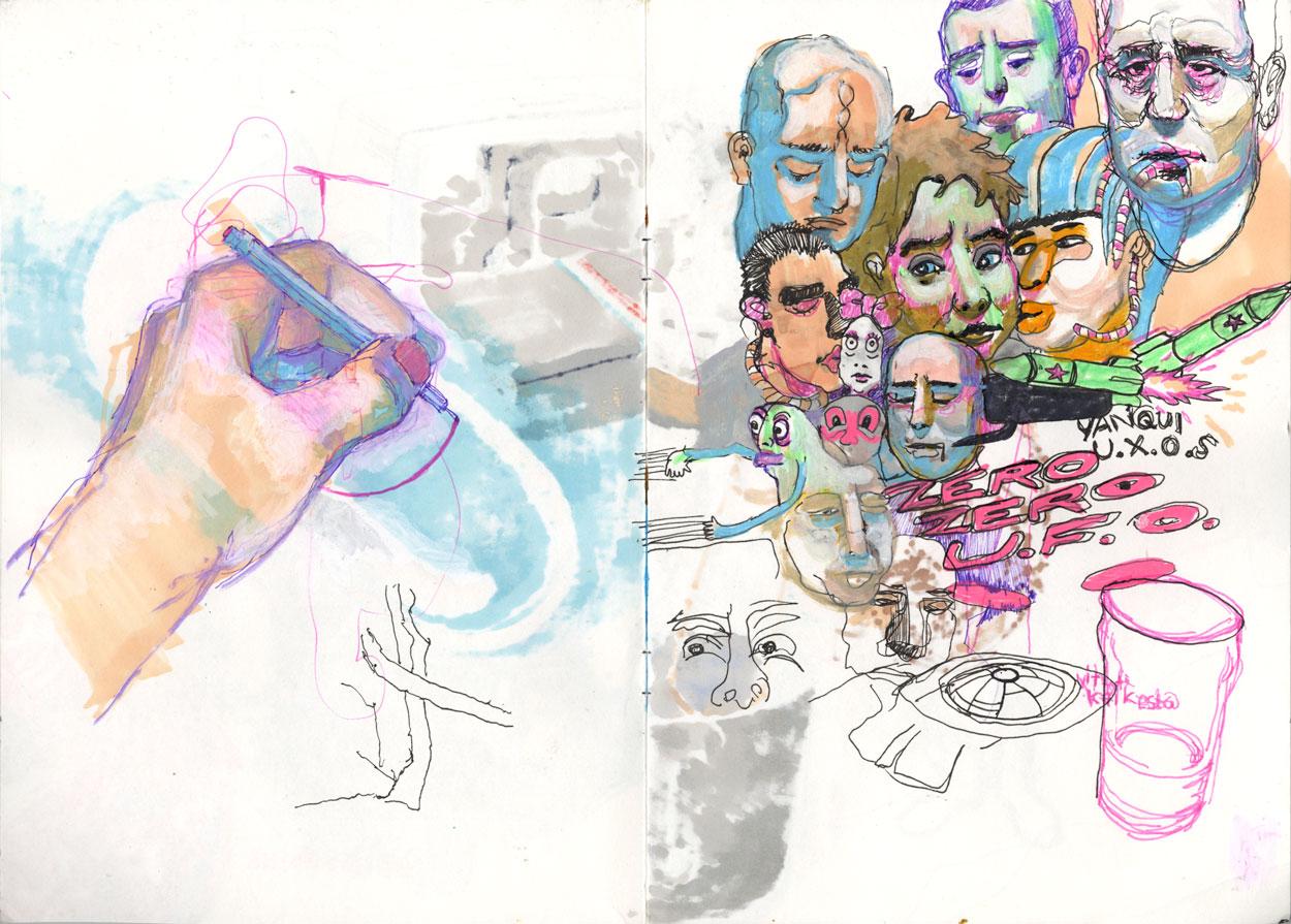 U.F.O. / 2015 / markers on paper / 29,7cm x 42cm