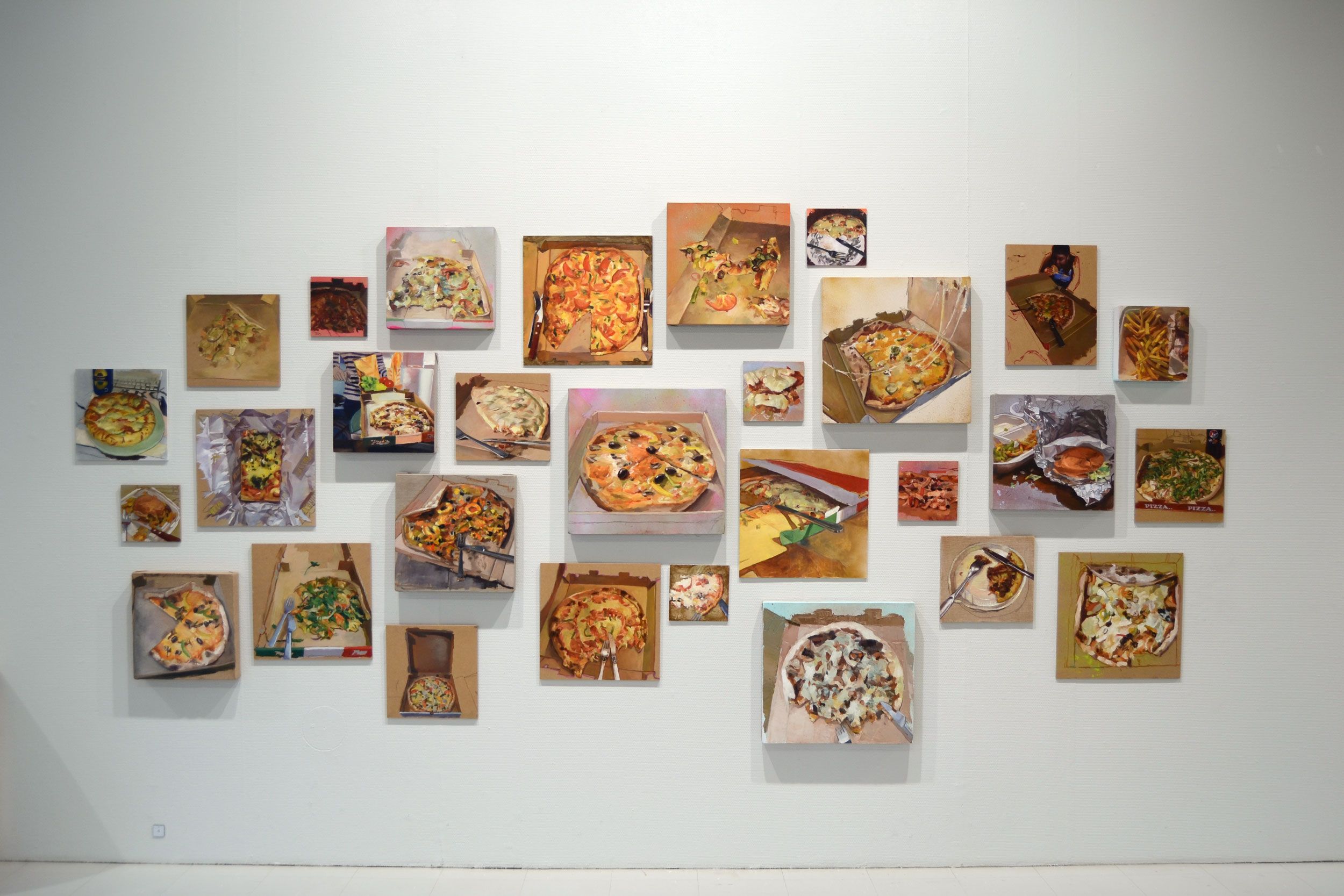 Pizza Diary / 2017 / oil on linen and board / 182cm x 380cm